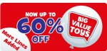The entertainer upto 60%off selected lines