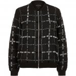 Black embellished bomber jacket, at River Island with collect from store