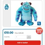 Monsters University Sulley 50cm Soft Toy