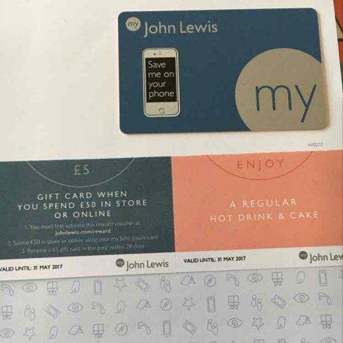 my john lewis membership card free sign up and get a