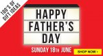 Free delivery on everything until Monday 29th with Father's Day gifts starting from £1, Airfix kits from £5 & kids craft from £1 more in post