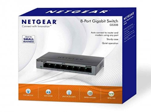 Netgear Gs308 100uks 8 Port Gigabit Ethernet Desktop