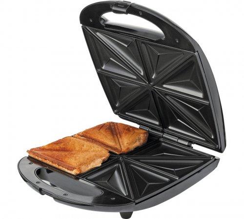 cookworks 4 slice sandwich toaster stainless steel 423. Black Bedroom Furniture Sets. Home Design Ideas