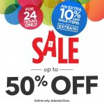 Extra 10% off from the Disney Store 50% off Sale