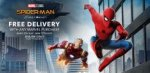 Free Delivery On Your WHOLE Order with any Marvel Purchase (excluding party) @ Disney Store - prices start