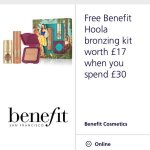 FREE benefit Hoola bronzing kit worth £17 with a spend when