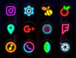 Neon Glow C - icon pack free