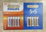 Philips long life batteries AA or AAA 10 pack