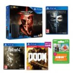 PlayStation 4 500GB Tekken 7 Deluxe Edition + Dishonored 2 + Fallout 4 +Doom With UAC Pack + Now TV Entertainment 3 Month Pass