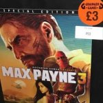 PS3 Max Payne 3 Special Edition With Statue