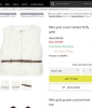 Half price on river island mini girls cream belted fluffy gilet