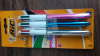 BIC pack of 3 4 colours shine pens