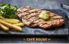 Steak, Frites + Glass of Wine for 4 People £22 (£5.50p/p) with code